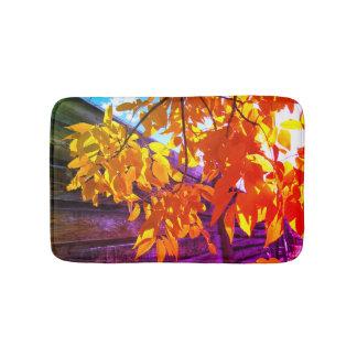Tapete De Banheiro Esteira de banho colorida das folhas