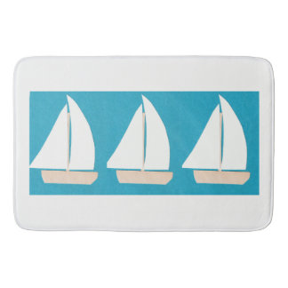 Tapete De Banheiro Esteira de banho com design do veleiro