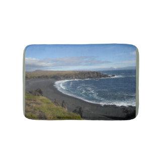 Tapete De Banheiro Esteira de banho com imagem islandêsa da praia
