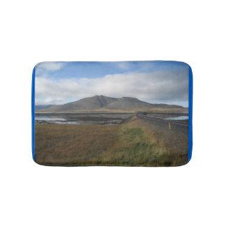 Tapete De Banheiro Esteira de banho com imagem islandêsa das colinas