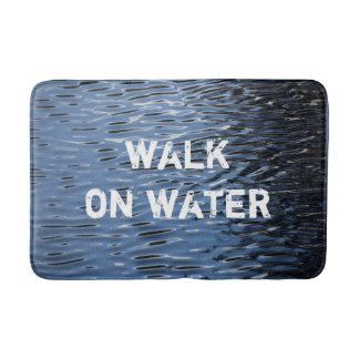 """Tapete De Banheiro Esteira de banho com mensagem: """"Caminhada na água"""