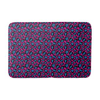 Tapete De Banheiro Esteira de banho cor-de-rosa & azul chique do