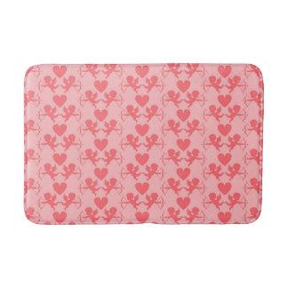 Tapete De Banheiro Esteira de banho cor-de-rosa do coração