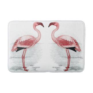 Tapete De Banheiro Esteira de banho cor-de-rosa dos flamingos do