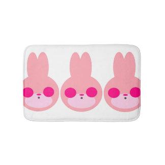 Tapete De Banheiro Esteira de banho cor-de-rosa e branca do coelho
