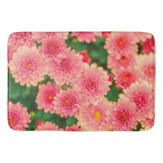 Tapete De Banheiro Esteira de banho cor-de-rosa na moda da flor das