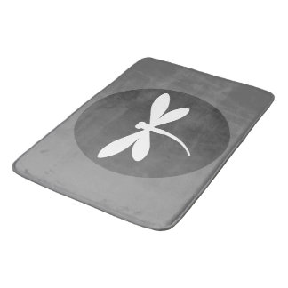 Tapete De Banheiro Esteira de banho customizável da libélula da cor