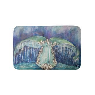 Tapete De Banheiro Esteira de banho da cauda da baleia