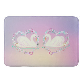 Tapete De Banheiro Esteira de banho da princesa da cisne (lilac)