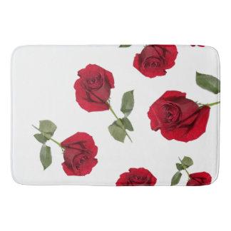 Tapete De Banheiro Esteira de banho da rosa vermelha