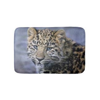 Tapete De Banheiro Esteira de banho de Cub do leopardo