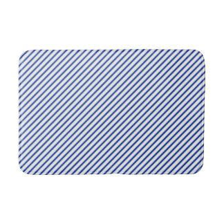 Tapete De Banheiro Esteira de banho diagonal azul elegante do teste