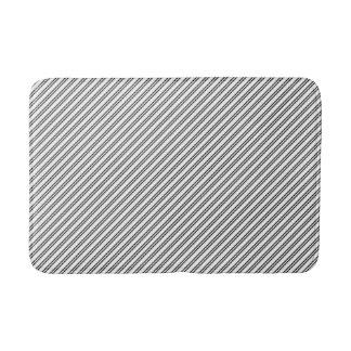Tapete De Banheiro Esteira de banho diagonal preta elegante do teste