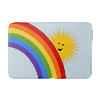 Tapete De Banheiro Esteira de banho do arco-íris e da luz do sol