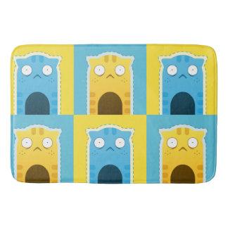 Tapete De Banheiro Esteira de banho do gato azul do gengibre grande