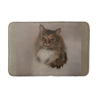 Tapete De Banheiro Esteira de banho do gato de chita