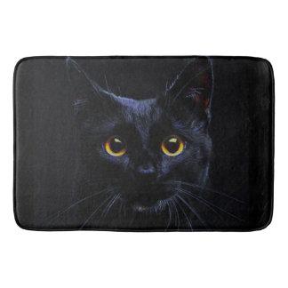 Tapete De Banheiro Esteira de banho do gato preto