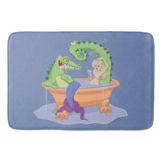 Tapete De Banheiro Esteira de banho do jacaré e da sereia