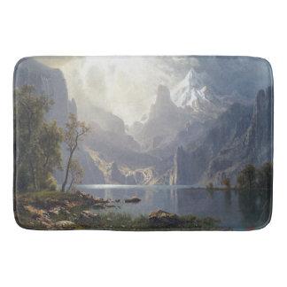 Tapete De Banheiro Esteira de banho do lago mountains das nuvens de