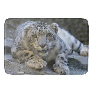 Tapete De Banheiro Esteira de banho do leopardo de neve
