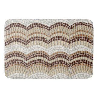Tapete De Banheiro Esteira de banho do mosaico bege grande