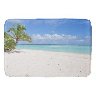 Tapete De Banheiro Esteira de banho do paraíso da palmeira da areia
