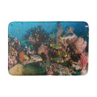 Tapete De Banheiro Esteira de banho do recife de corais