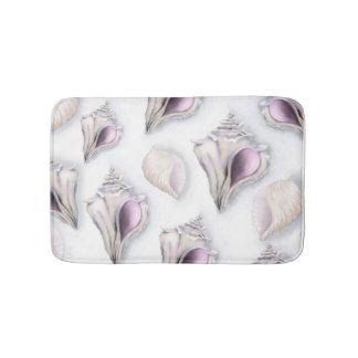 Tapete De Banheiro Esteira de banho do teste padrão do seashell do
