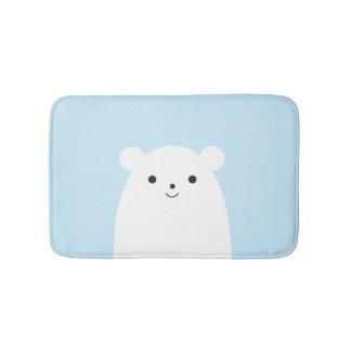 Tapete De Banheiro Esteira de banho do urso polar do Peekaboo
