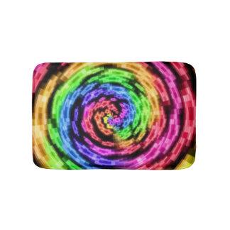 Tapete De Banheiro Esteira de banho do Vortex da estrela do arco-íris