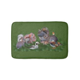 Tapete De Banheiro Esteira de banho dos animais da floresta