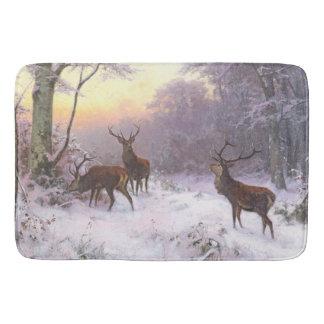 Tapete De Banheiro Esteira de banho dos animais da neve do inverno