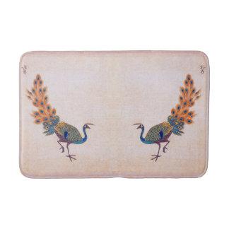 Tapete De Banheiro Esteira de banho dos animais dos pássaros do pavão
