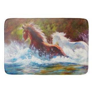 Tapete De Banheiro Esteira de banho dos cavalos selvagens