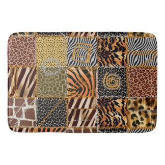 Tapete De Banheiro Esteira de banho dos retalhos do safari grande