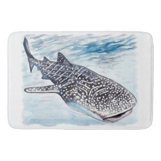 Tapete De Banheiro Esteira de banho dos trabalhos de arte do tubarão