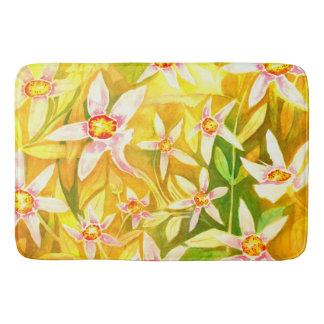 Tapete De Banheiro Esteira de banho floral bonita do Watercolour