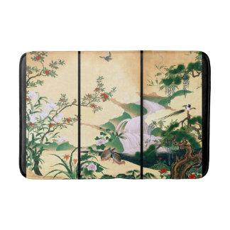 Tapete De Banheiro Esteira de banho floral dos animais dos pássaros