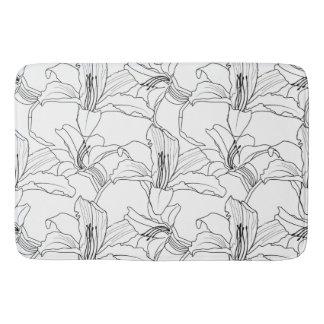 Tapete De Banheiro Esteira de banho floral dos esboços tropicais