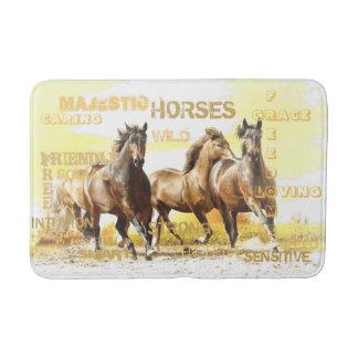 Tapete De Banheiro Esteira de banho majestosa dos cavalos - meio