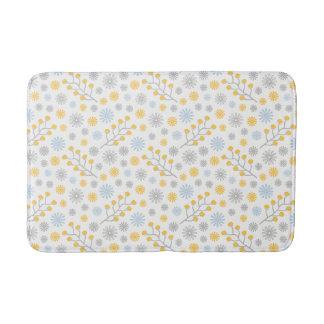 Tapete De Banheiro Esteira de banho média amarela & cinzenta azul