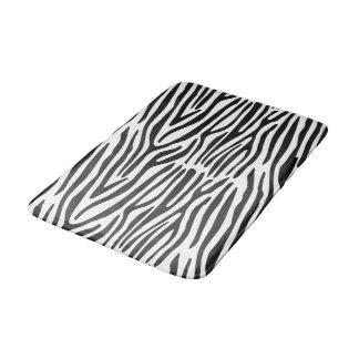 Tapete De Banheiro Esteira de banho média da zebra preto e branco