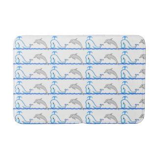 Tapete De Banheiro Esteira de banho média do golfinho & da baleia