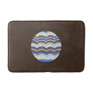 Tapete De Banheiro Esteira de banho média do mosaico azul redondo