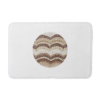 Tapete De Banheiro Esteira de banho média do mosaico bege redondo