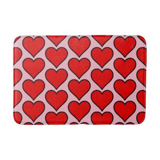 Red Heart Pink Medium Bath Mat