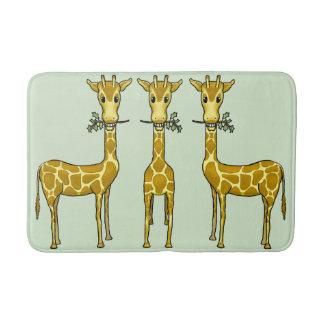 Tapete De Banheiro Esteira de banho média dos girafas