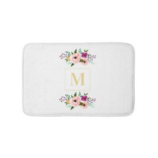 Tapete De Banheiro Esteira de banho - monograma floral