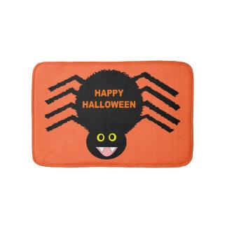 Tapete De Banheiro Esteira de banho preta da aranha do Dia das Bruxas