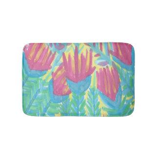 Tapete De Banheiro Esteira de banho tropical do jardim de Lotus